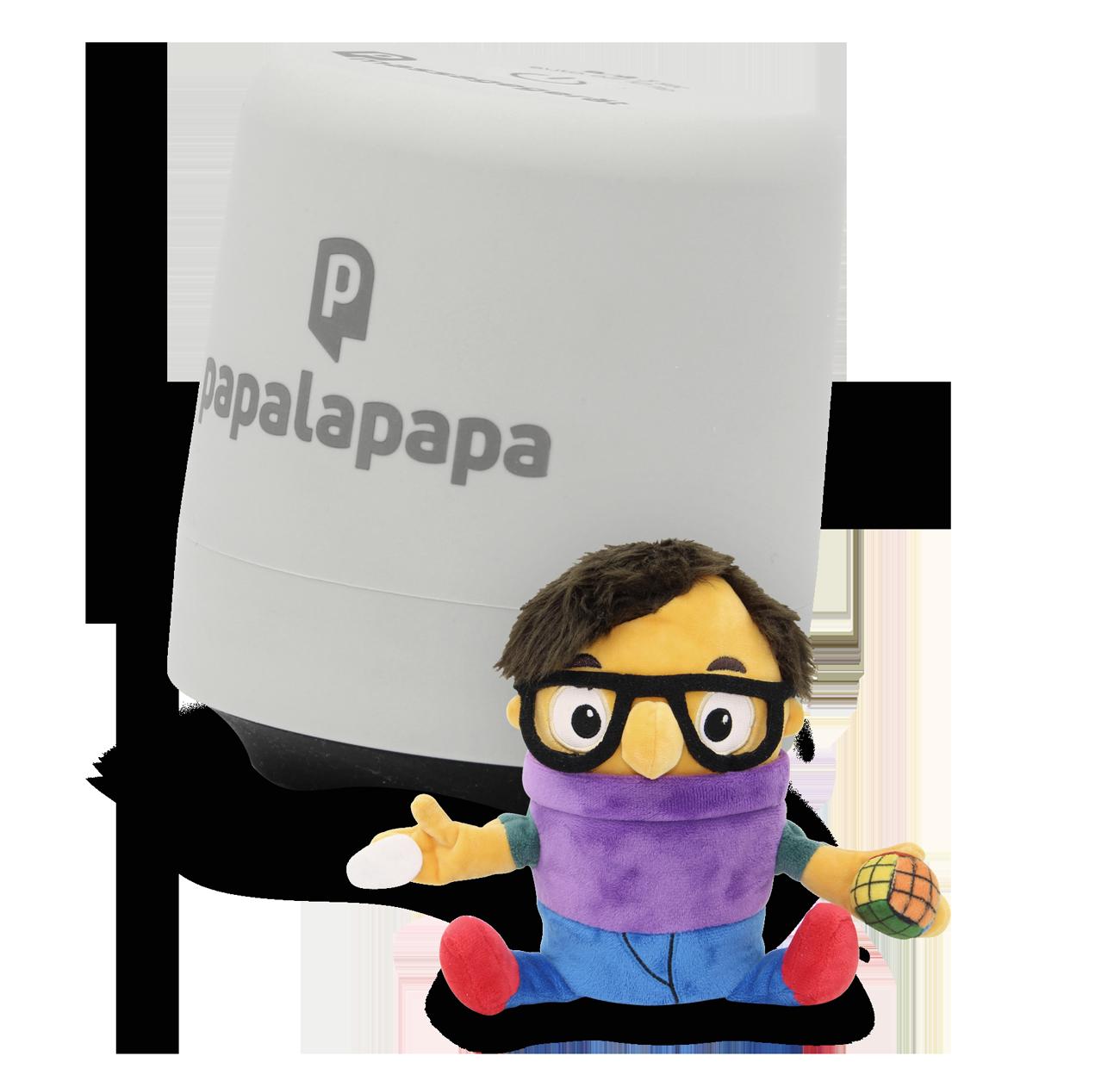Das palapapapa Bauchmassagerät für Babys mit einer Plüschfigur